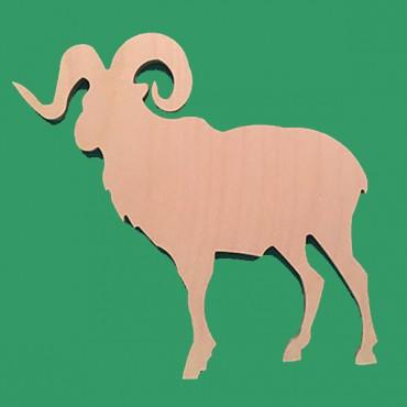 деревянная фигурка Горный козел для росписи и прикольных подарков
