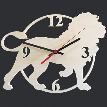 деревянная заготовка для часов - силуэт льва