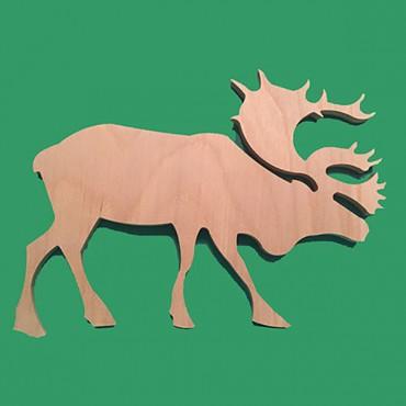 деревянная фигурка ЛОСЬ для росписи и прикольных подарков