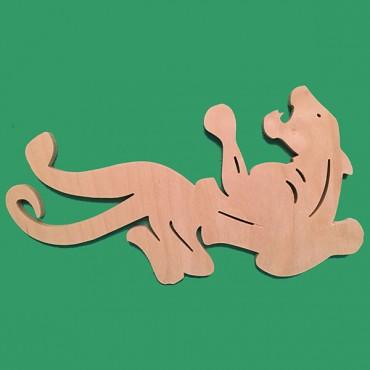 деревянная фигурка ПАНТЕРА для росписи и прикольных подарков