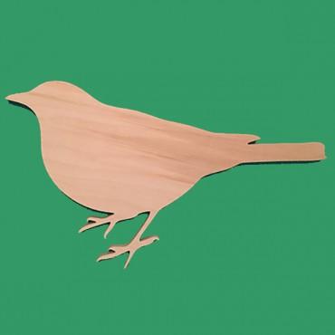 деревянная фигурка ДРОЗД для росписи и прикольных подарков