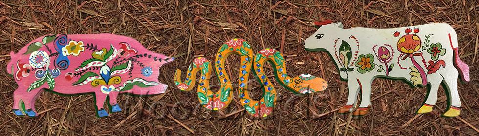 фото расписанные животные из фанеры 2